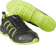 F0125-773-0917 Vernesko - svart/limegrønn
