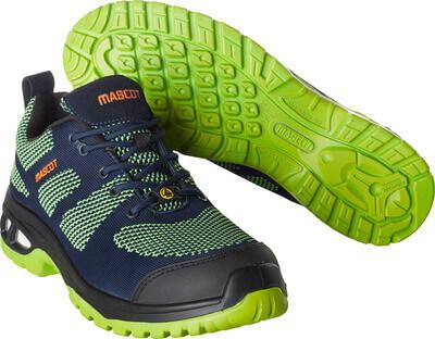 F0131-849-01033 Vernesko - mørk marine/limegrønn